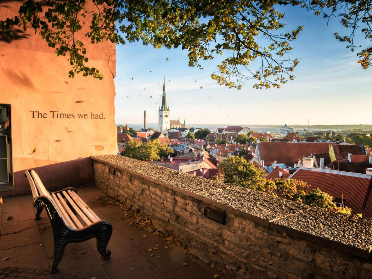Take in the view of Tallinn's medieval Old Town