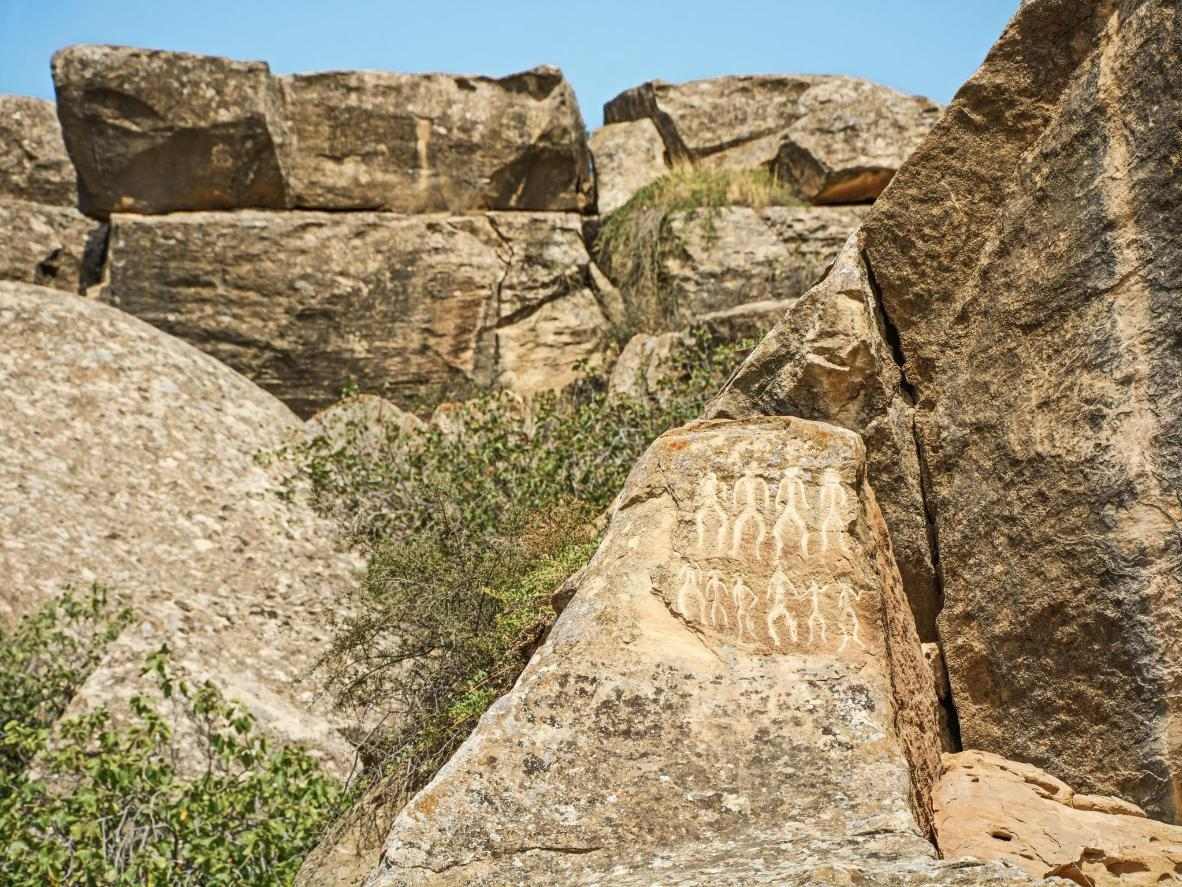 Find ancient petroglyphs just an hour outside of Baku