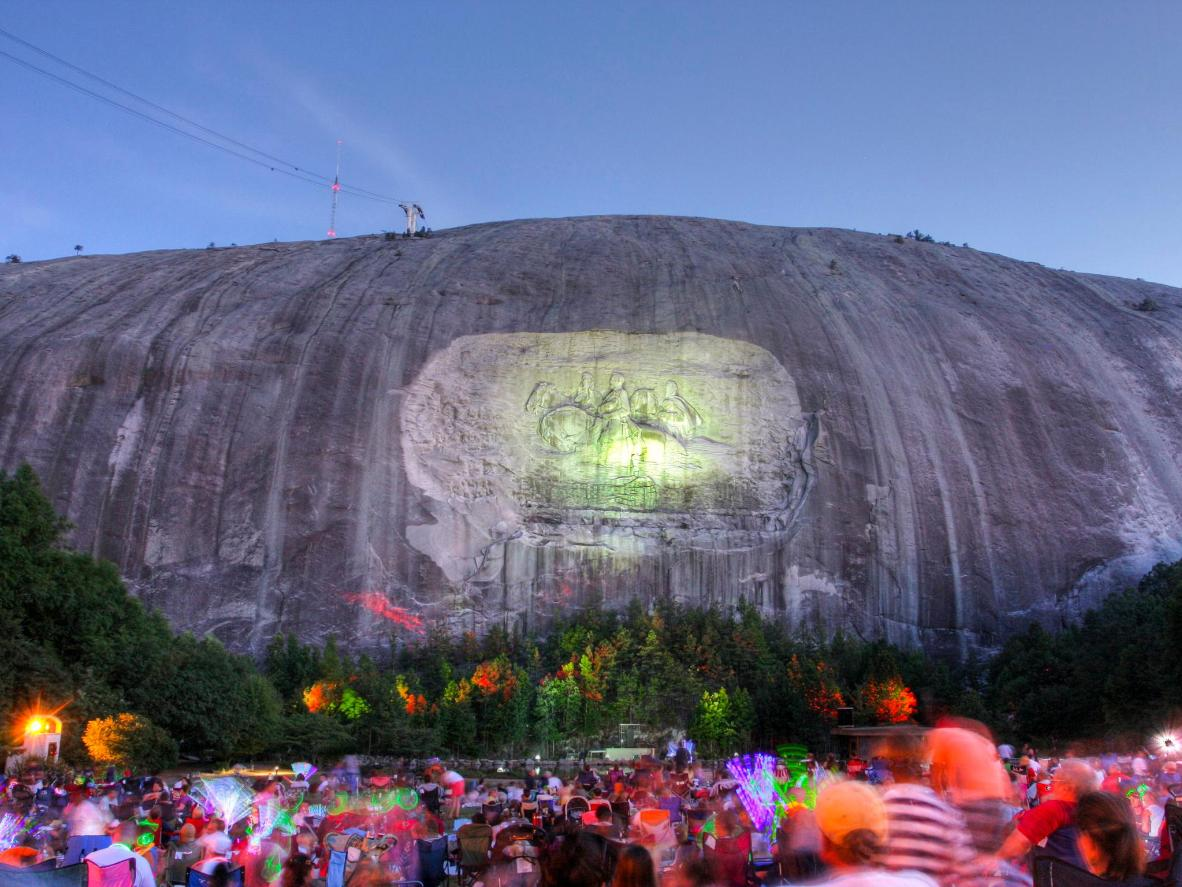 Check out the nightly Labor Day laser show and fireworks at Stone Mountain Park