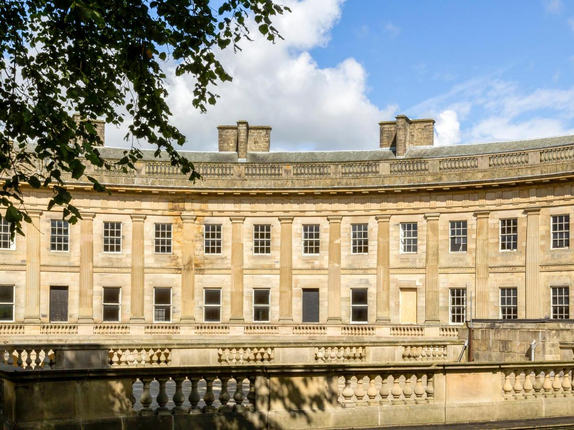 One of Buxton's architectural highlights, its elegant Georgian crescent