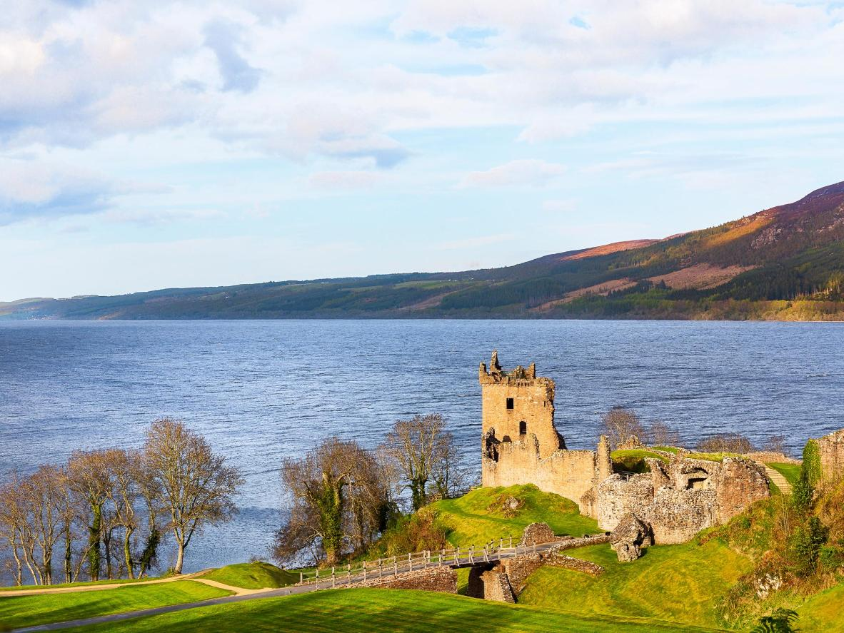 Talk a walk around Loch Ness to admire sights like Urquhart Castle