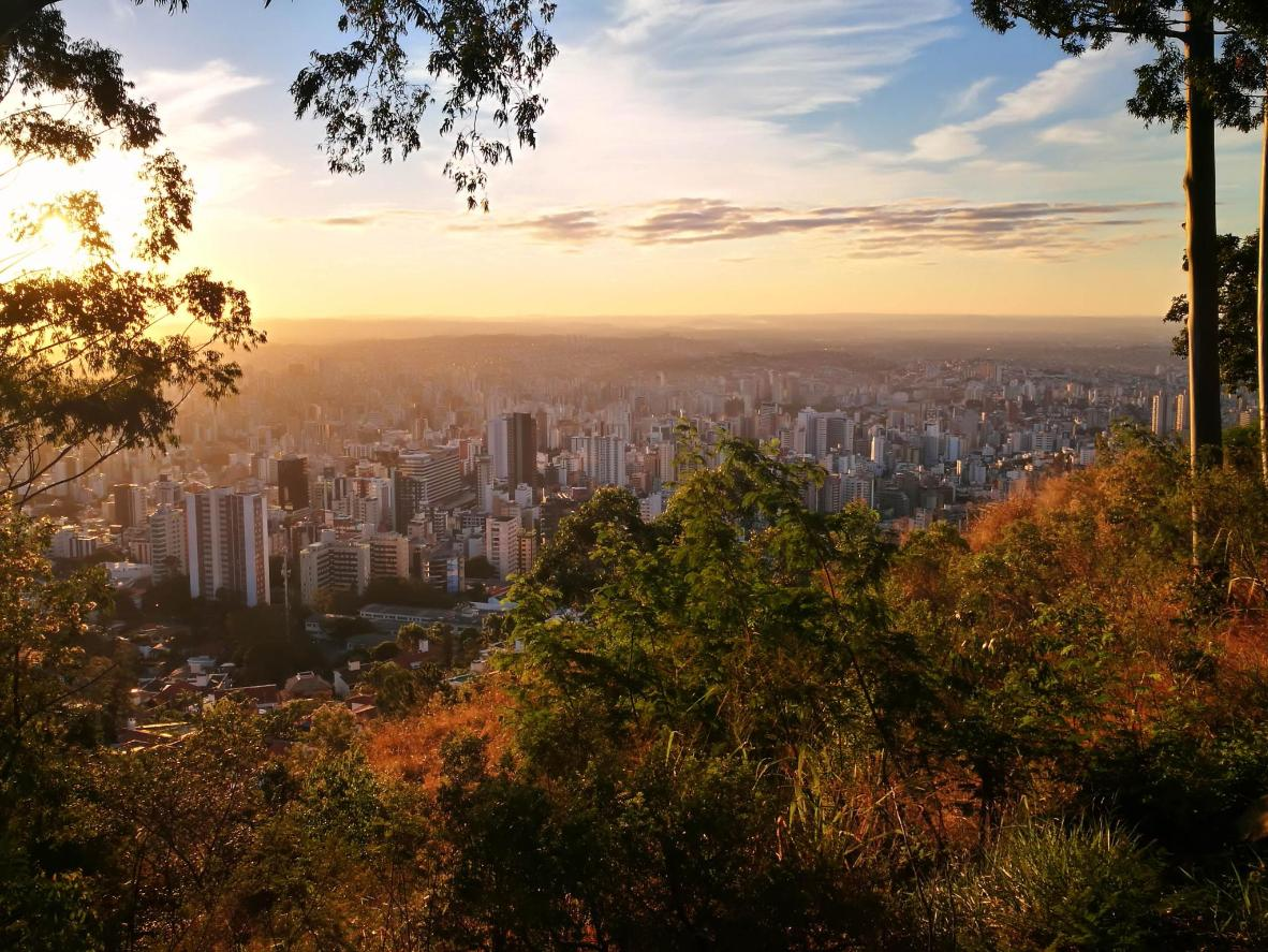 The vibrant city of Belo Horizonte (or 'beautiful horizon'), named for its mountain views
