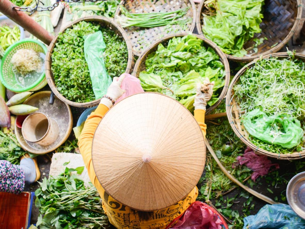 Be taken on a market tour before cooking up a storm in Hoi An