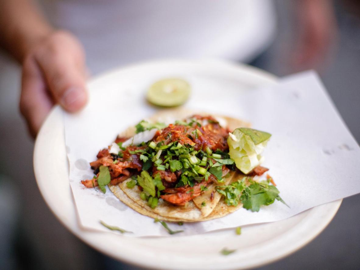 Dine on tacos complete with homemade tortillas