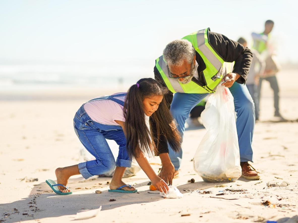 Help clean up any plastic or rubbish that has washed ashore