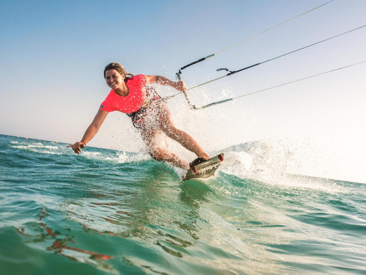 Leucate is becoming an extremely popular spot among locals and travellers for kitesurfing