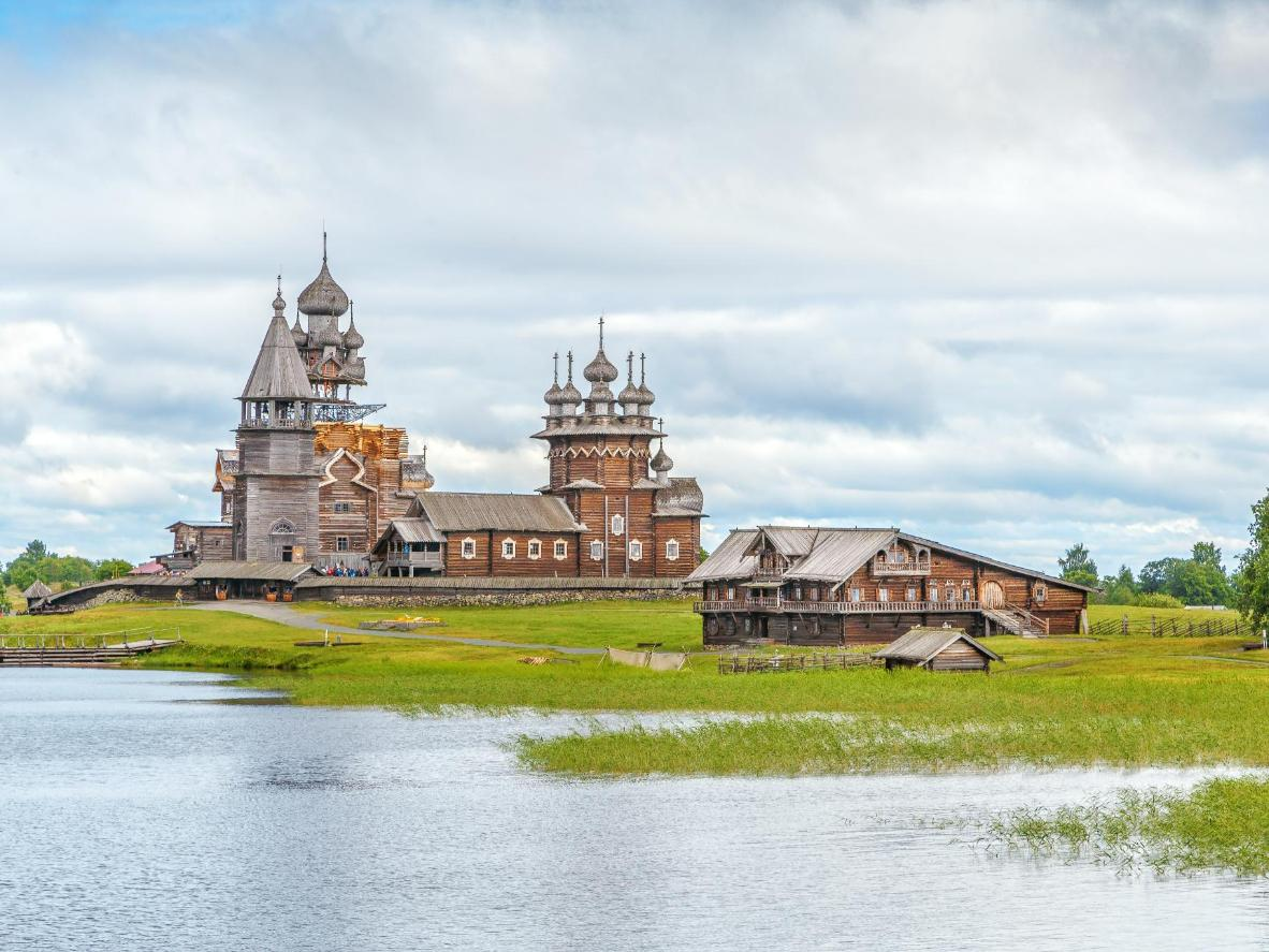 The Kizhi Pogost is a celebrated historical site in Russia