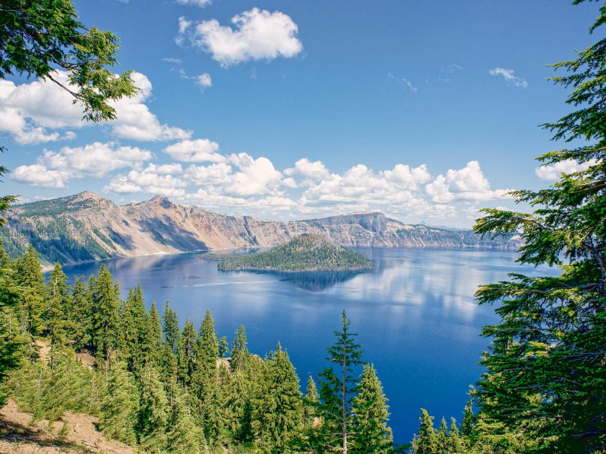 Crater Lake is the country's deepest lake