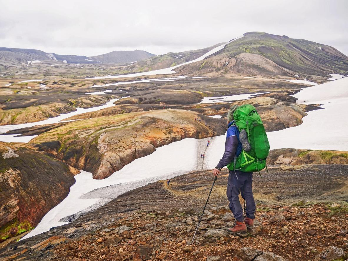 Immerse yourself in nature on a hike in Iceland