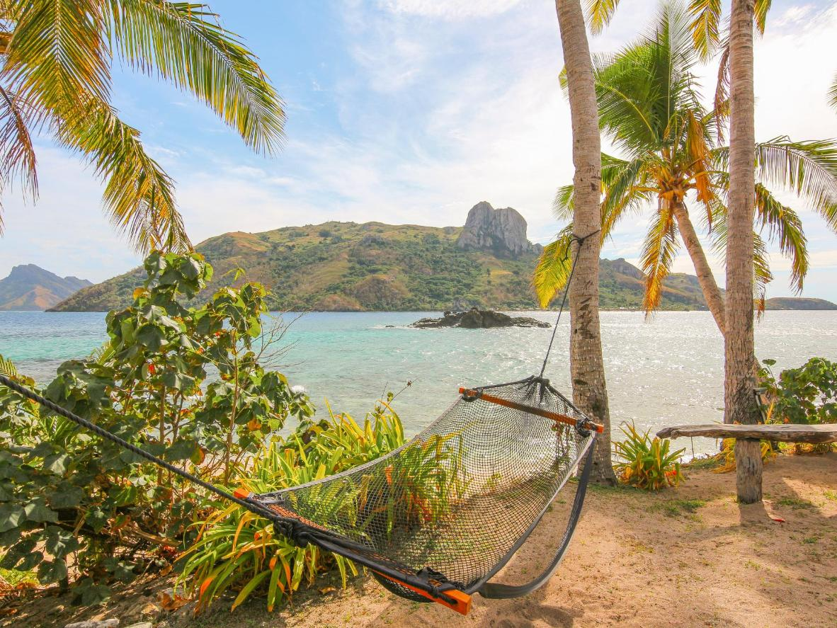 Find a hammock on the beach and enjoy the natural surroundings