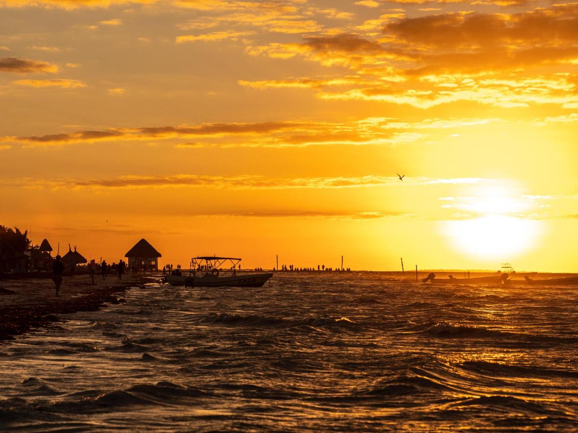 Witness Isla Holbox's famed sunsets