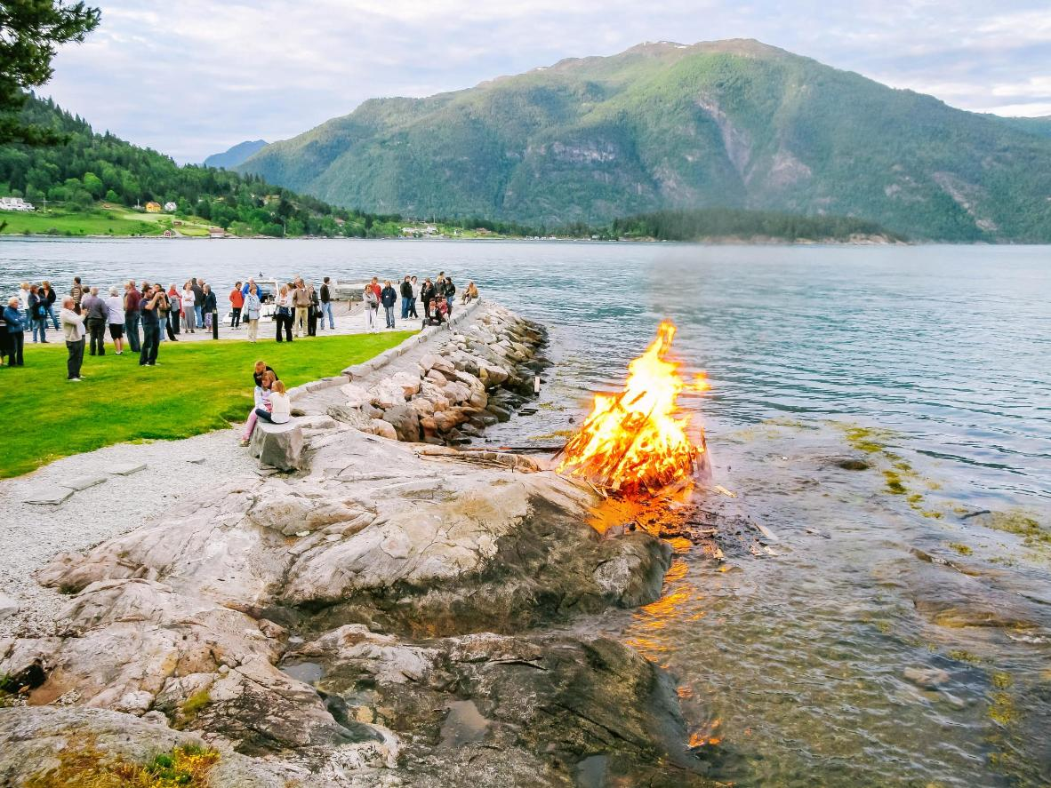 Light a bonfire and head out onto the water for the best views