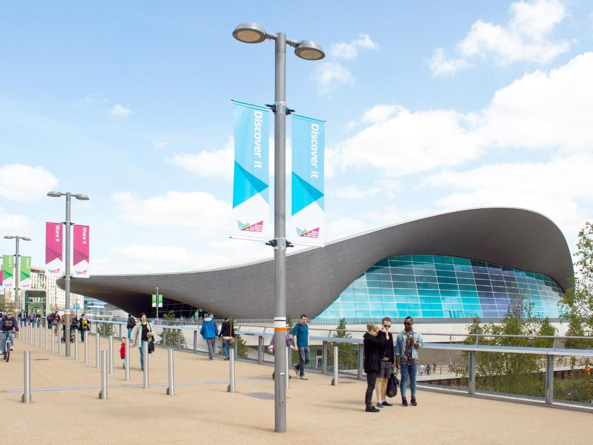 The undulating roof of The London Aquatics Centre was designed to resemble a wave
