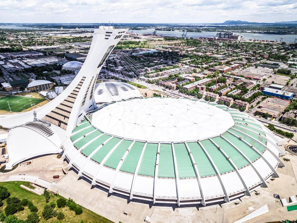 The Montréal Parc Olympique swimming pool hosted in 1976 but underwent major renovations in 2015