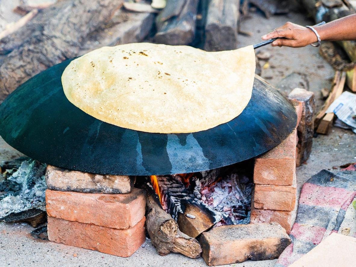 Rumali roti is a soft, wafer-thin variant of a chapati