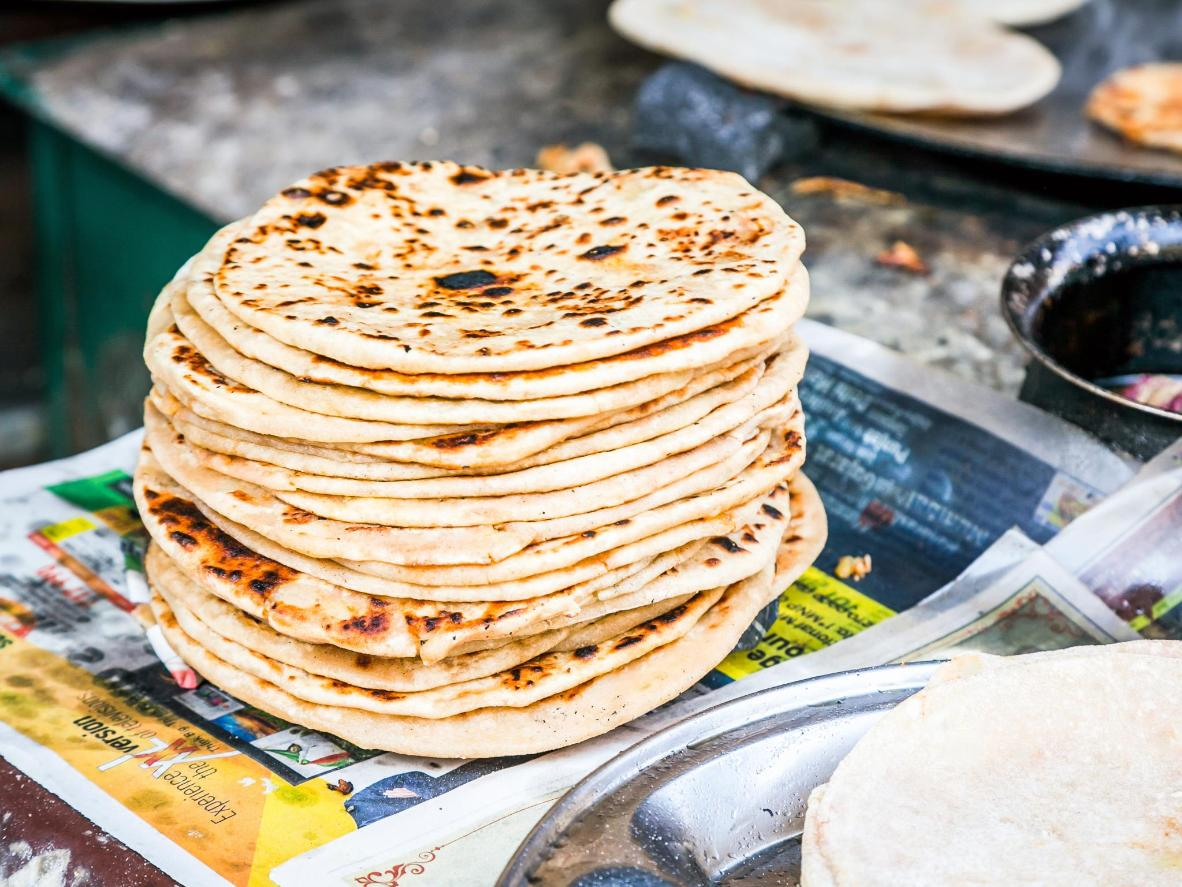 The popularity of the roti stretches far and wide around the world