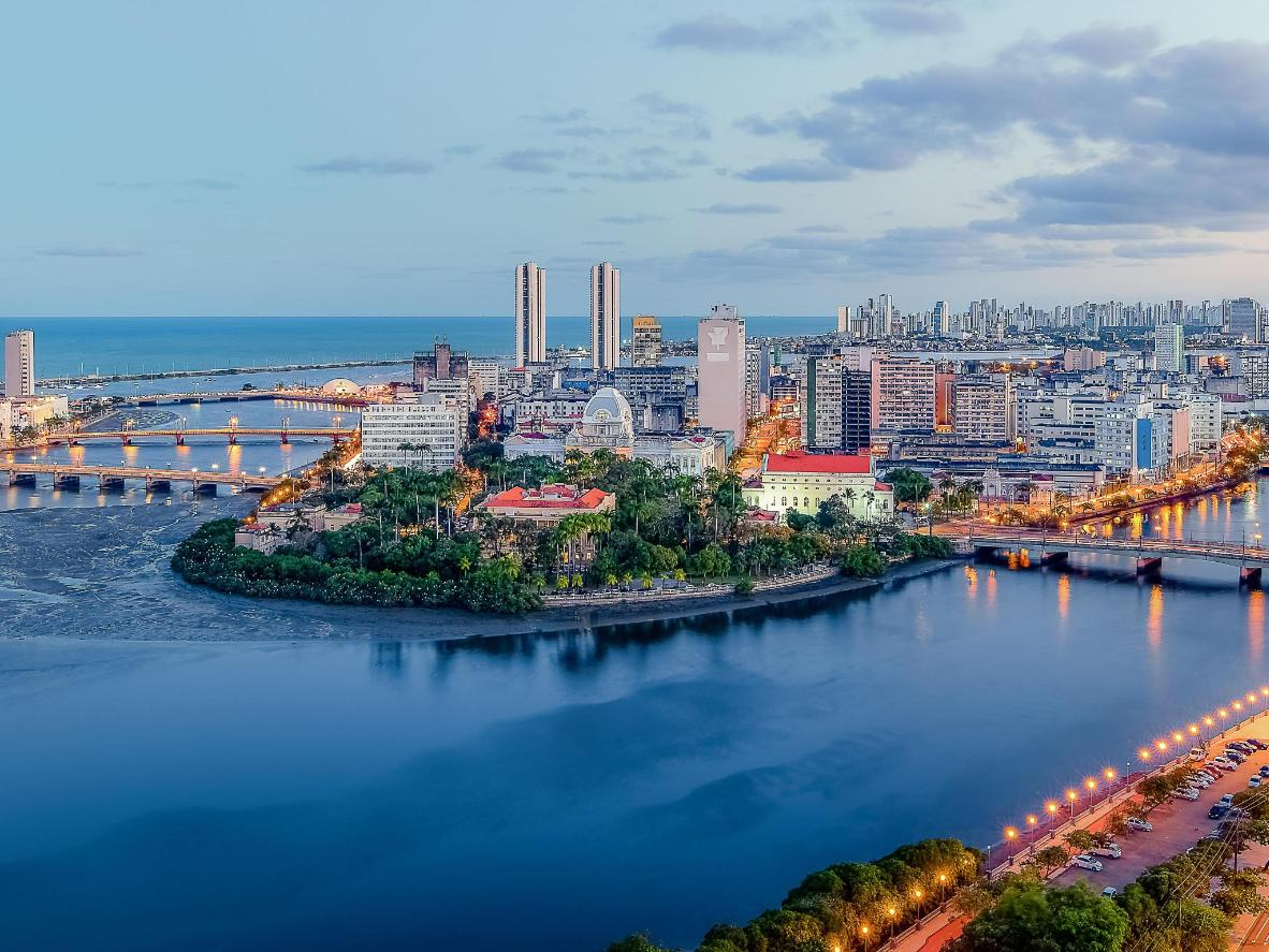 Dine on the waterfront in the coastal city of Recife