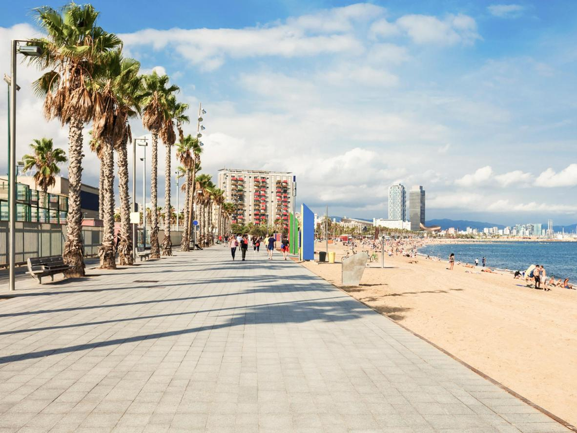 Barcelona's city beaches provide a free assisted bathing service from June to September every summer