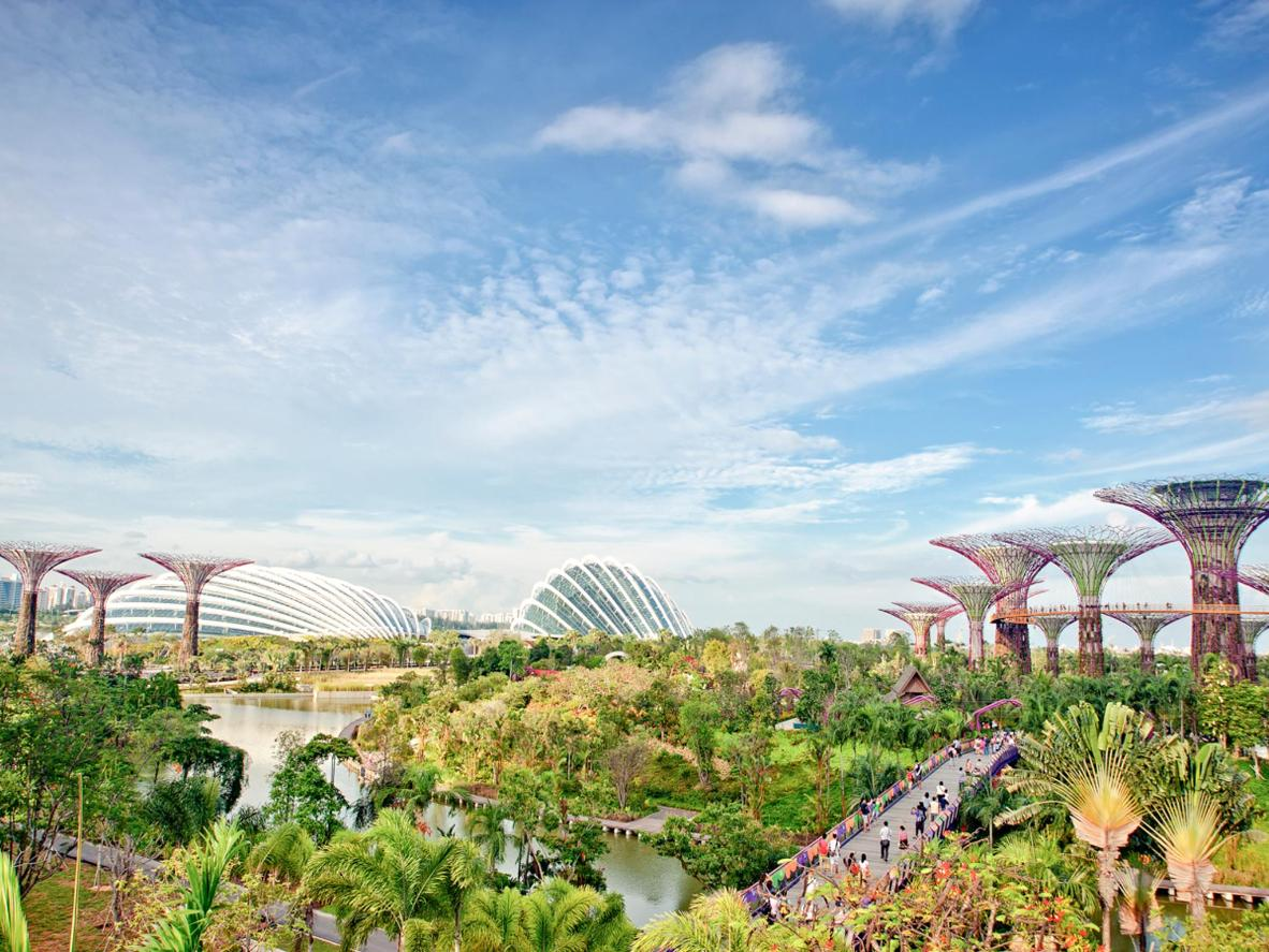 Singapore's Avatar-esque Gardens by the Bay (as well as much of the city) is fully accessible