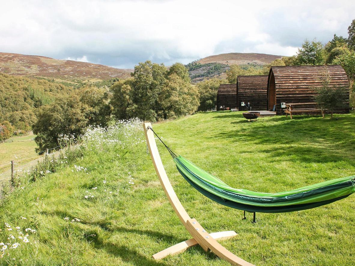 This tranquil campsite can be found in Scotland's moody Aberdeenshire hills