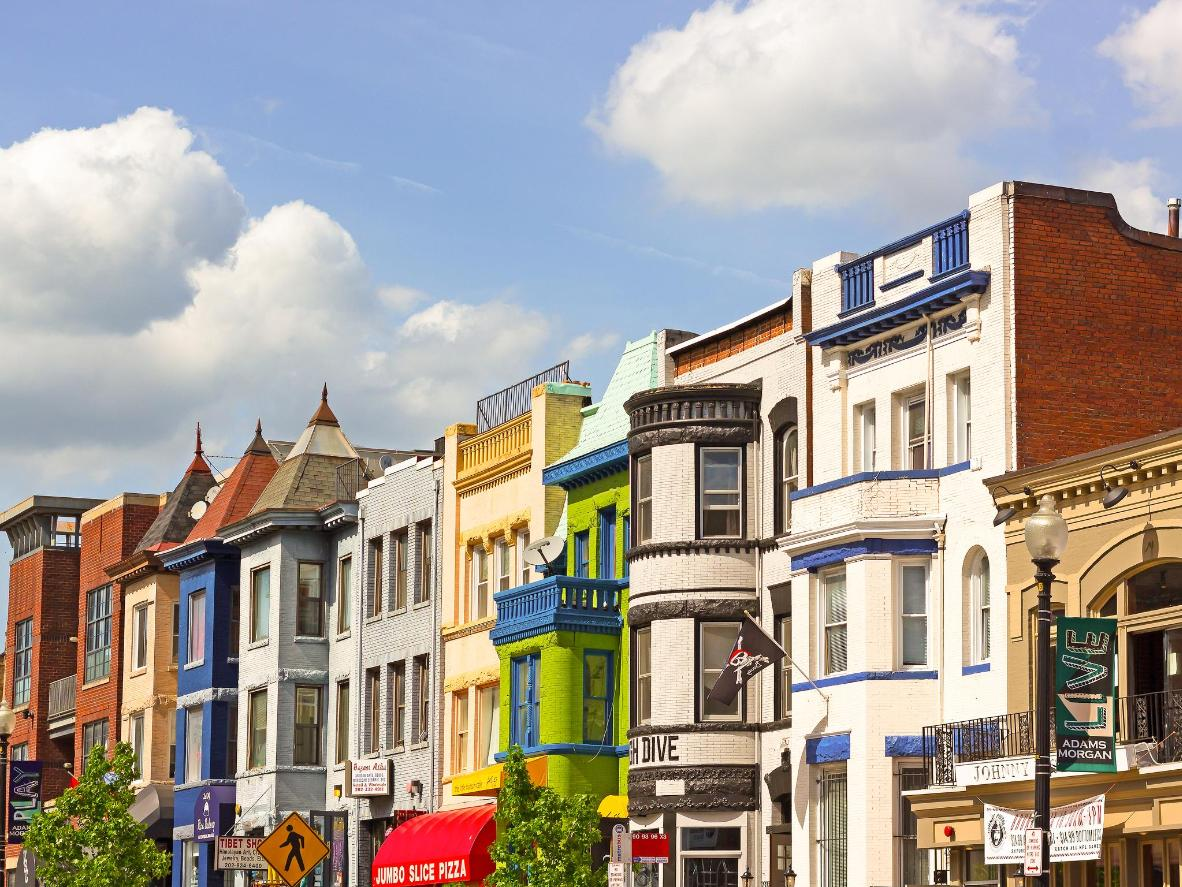 The vibrant Adams Morgan neighborhood of Washington, D.C.