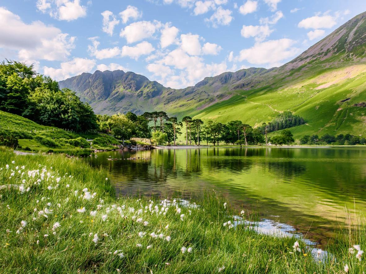 Tranquil lakes set against the backdrop of some of England's highest mountains