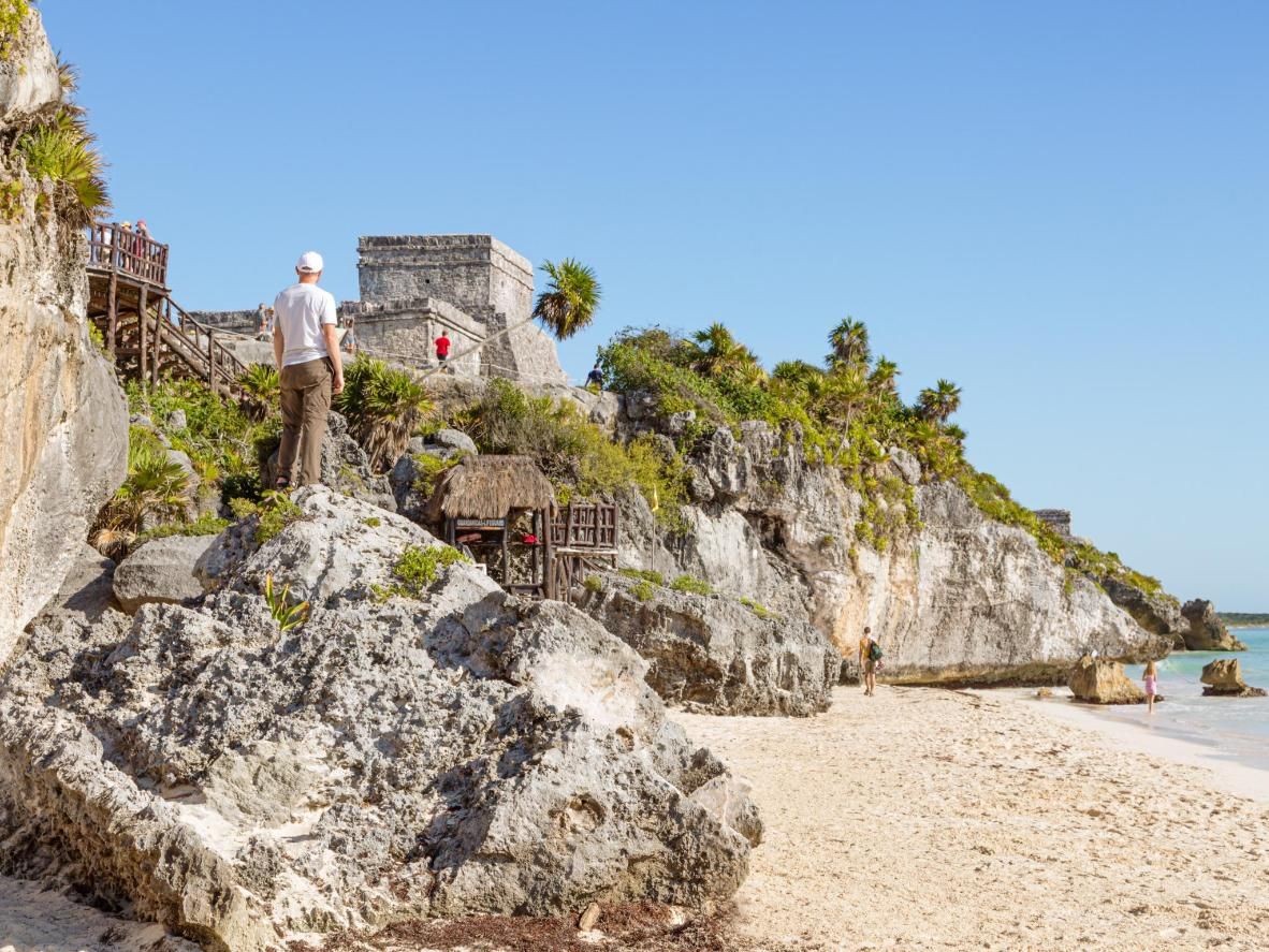 The 13th century Mayan ruins are a must see in Tulum