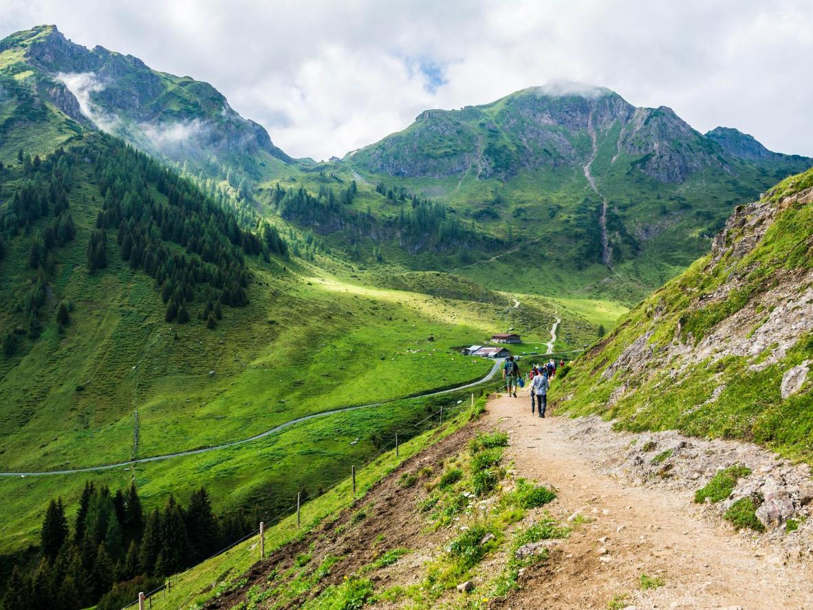 Fantastic views on the many mountain routes for hiking or mountain biking